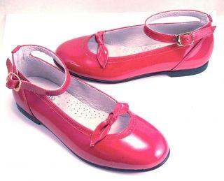 NIB de OSU Baby Girls Red Patent Leather Dress Shoes Spain Euro 20 33