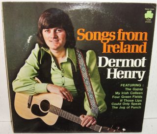 DERMOT HENRY Songs From Ireland LP MINT 1975 Rego Irish Celtic vinyl