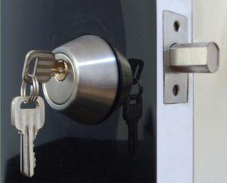 Deadbolt Single Cylinder Door Lock Set Brushed Steel D1