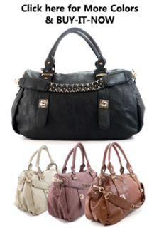 Fashion Designer Inspired Leather Handbag Purse Brown