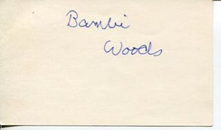 Bambi Woods Debbie Does Dallas Star Extremely RARE Signed Autograph