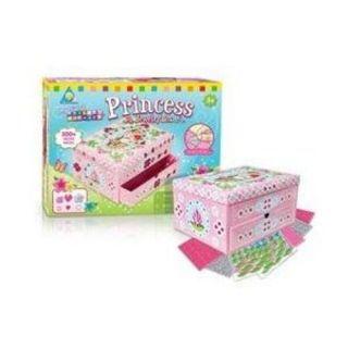 Design Super Fun Mosaics PRINCESS Jewelry Box Kids Crafts Make Your