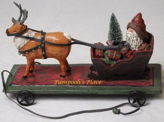 Deborah Graham Santas Sleigh Ride Tabletop Christmas Decor