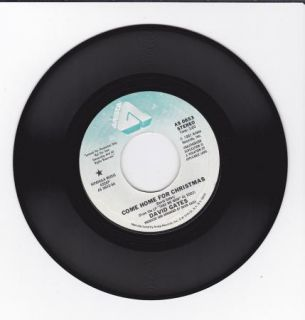 Hear Christmas 45 David Gates Come Home for Christmas Arista 0653