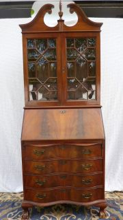 Jasper Flame Mahogany Drop Down Secretary Desk Lock