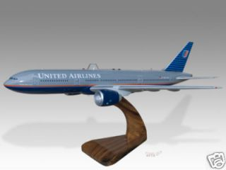 Boeing 777 200 United Airlines Desktop Airplane Model