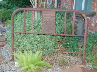 Vintage Iron 54 inch Bed Frame Decorative Garden Art Trellis Edging