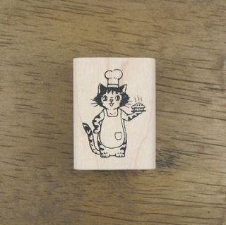 Decorative Stamps Rubber Stamp Patisserie Le Chat 02