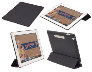 Devicewear Bridgeway Black iPad 3 Smart Cover +Back, Lock Magnet (New