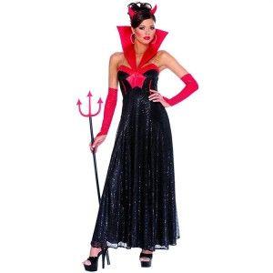 Hot Hollywood Evil Devil Halloween Costume Sz XL Sparkle Sequin Full