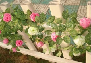 Rose Garland Silk Flower Vine Ivy Home Wedding Garden Decoration