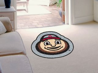 NCAA Team Mascot Decorative Logo Cut Area Rug Floor Mat