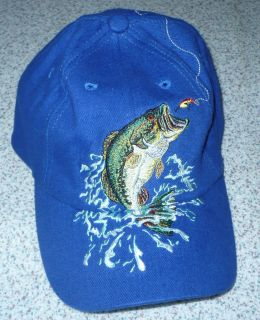 Vintage Blue Fish Fly Fishing Trucker Hat Cap Trout