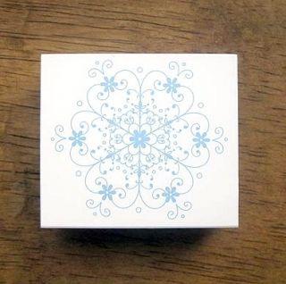 Decorative Stamps Kodomonokao Rubber Stamp Snow Flake