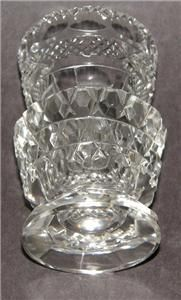 ANTIQUE HAND CUT GLASS CRYSTAL TOOTHPICK HOLDER AMAZING DETAILED WORK