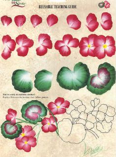 donna dewberry one stroke geraniums this is a great way to learn how