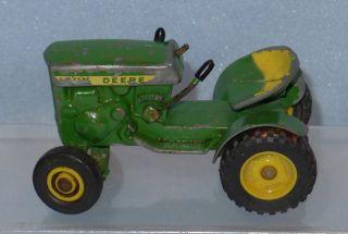 1960s Diecast JOHN DEERE Farm Tractor,Vintage Old Metal Toy