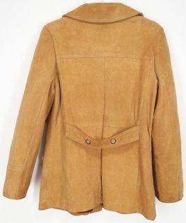 Vtg New England Sportswear® Deerskin Leather Coat Jacket XS Brown
