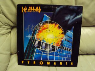 DEF LEPPARD PYROMANIA SIGNED AUTOGRAPHED ALBUM LP RECORD RICK ALLEN