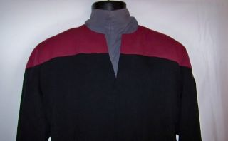 Star Trek Deep Space Nine Voyager Starfleet Uniform Costume Red