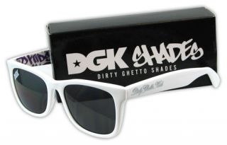 dgk shades graff sunglasses white these shades featre an all over
