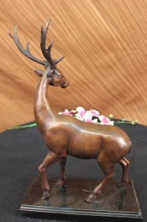 15 Bronze Marble Statue Elk Stag Buck Deer Lodge Decor