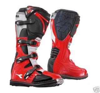 Diadora MX4 Motocross Motorcycle Boots Red