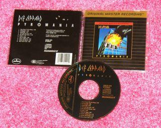 Def Leppard Pyromania RARE MFSL Udcd Gold Disc CD 015775152021