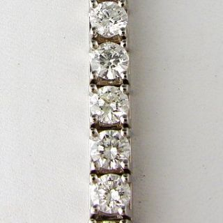 13 90 Ct Diamond Ladies Tennis Bracelet 18K White Gold