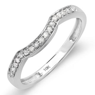 Ct 14k White Gold Diamond Anniversary Wedding Ring Band Guard