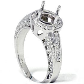 2ct Vintage Round Cut Diamond Engagement Semi Mount Setting Antique