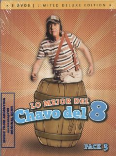 DVD Set Lo Mejor Del Chavo Del 8 Pack 3 SEALED New Limited Deluxe