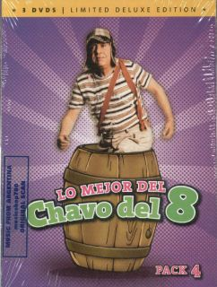 DVD Set Lo Mejor Del Chavo Del 8 Pack 4 SEALED New Limited Deluxe