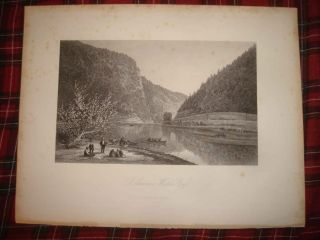 Superb Antique 1850 Delaware Water Gap Pennsylvania New Jersey Canoe