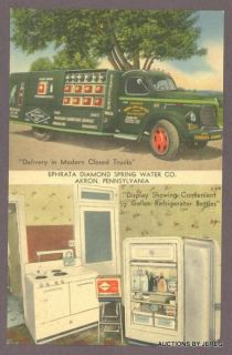 Ephrata PA Diamond Spring Water 1950s REO Delivery Truck