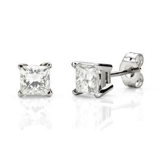 1 Carat Diamond Stud Earrings G vs Gold