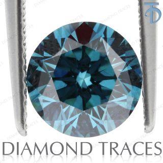 46 Carat Excellent Cut Blue SI3 Round 100% Genuine Diamond AGI