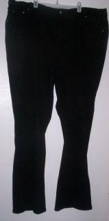 DG2 Diane Gilman Black Stretch Boot Cut Jeans Sz 24W