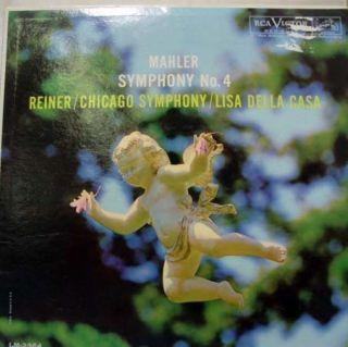 Reiner Della Casa Mahler Symphony 4 LP Vinyl LM 2364