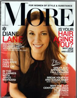 MORE MAGAZINE SEPTEMBER 2012 DIANE LANE JOYCE MAYNARD FASHION HANNA