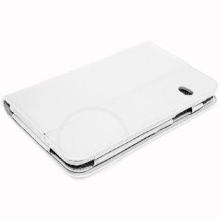 White Executive Genuine Leather Case for Dell Streak 7