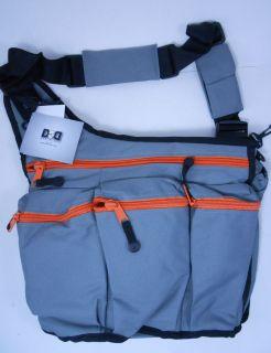 Diaper Dude Diaper Bag for Dad Messenger Grey Orange 400