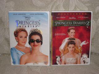 Disneys The Princess Diaries 1 2 Royal Engagement 2 DVD Set Lot Full