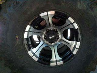 36x13 5x15 Super Swamper Irok Tires w Dick Cepek Rims