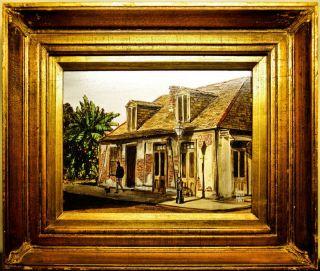 Original Paul De La Fille Oil on Masonite Lafittes Blacksmith Shop New