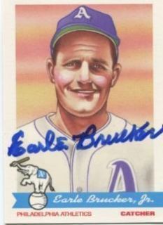 2009 Philadelphia Athletics Signed Earle Brucker 1948