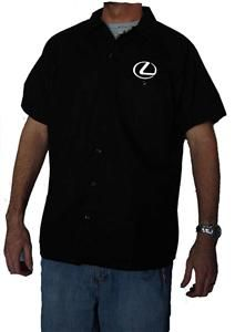 DICKIES Lexus Button Up Workshirt Car Racing Mechanic Work Shirt