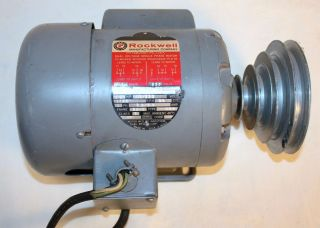 Delta Rockwell Power Tool Motor 62 010 1 2 HP 1725RPM Class B 115 230V