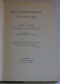 Harriet Roosevelt Richards Barbara Yechton book 1894 1st ed