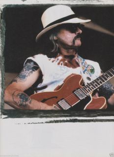 Dickey Betts The Allman Brothers 335 Guitar Print Ad